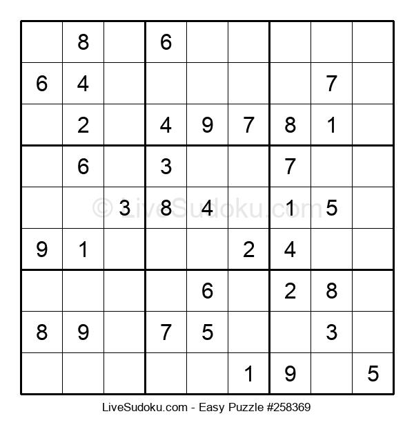 Beginners Puzzle #258369