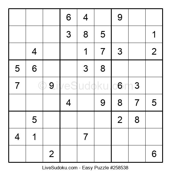 Beginners Puzzle #258538