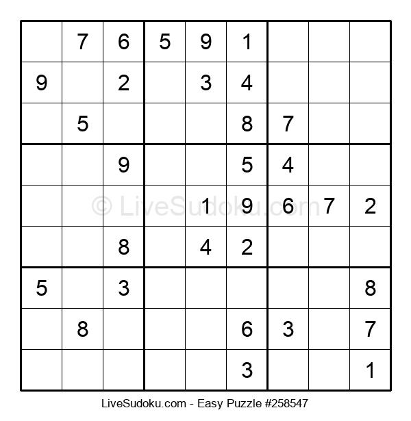 Beginners Puzzle #258547