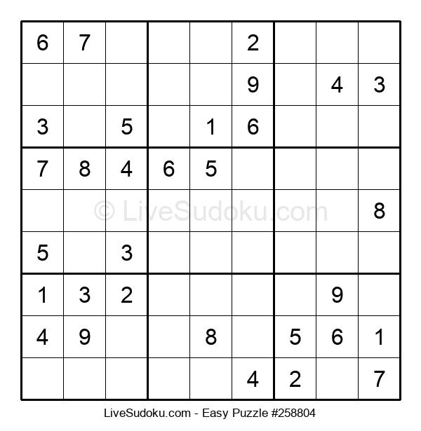 Beginners Puzzle #258804