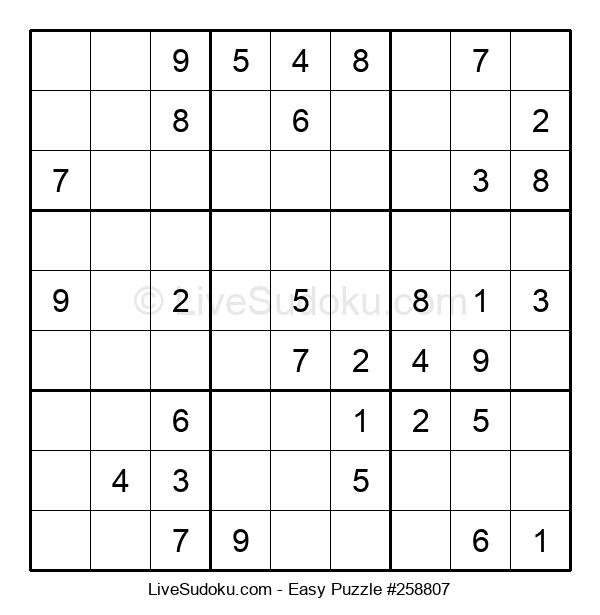 Beginners Puzzle #258807