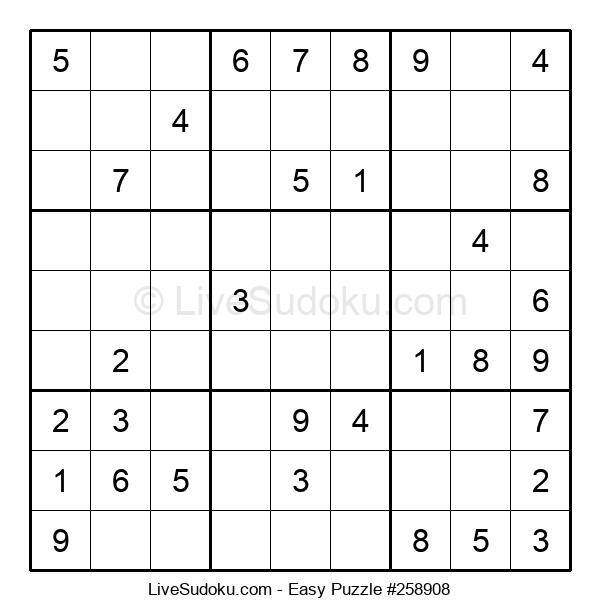 Beginners Puzzle #258908
