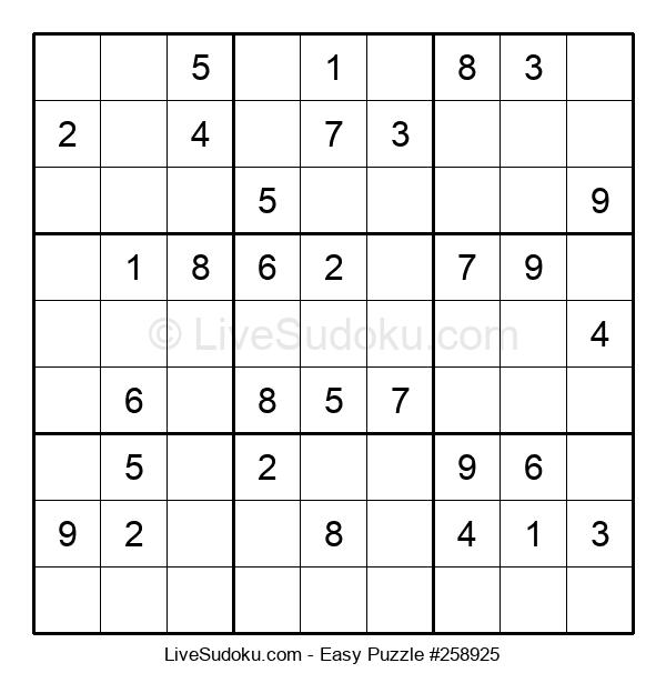 Beginners Puzzle #258925