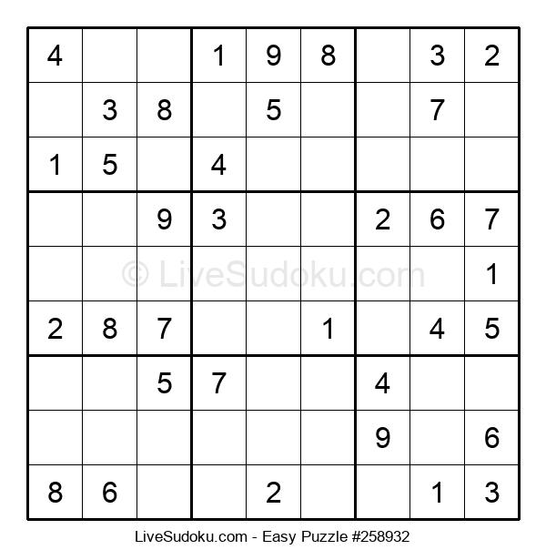 Beginners Puzzle #258932