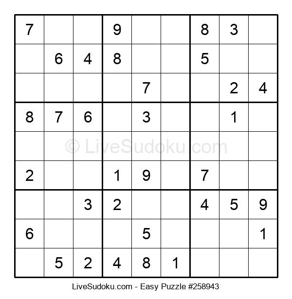 Beginners Puzzle #258943