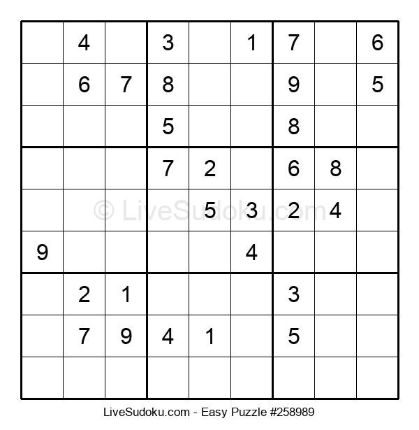 Beginners Puzzle #258989