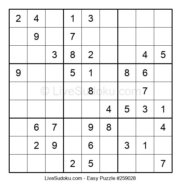 Beginners Puzzle #259028