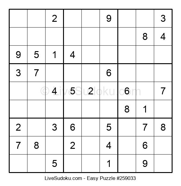 Beginners Puzzle #259033