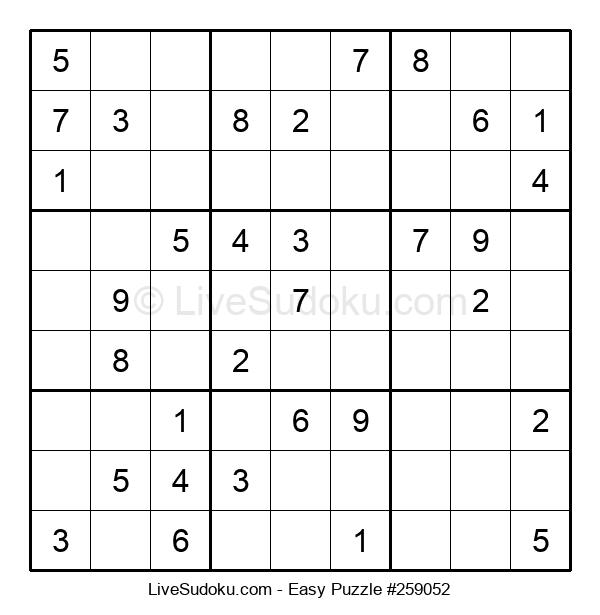 Beginners Puzzle #259052