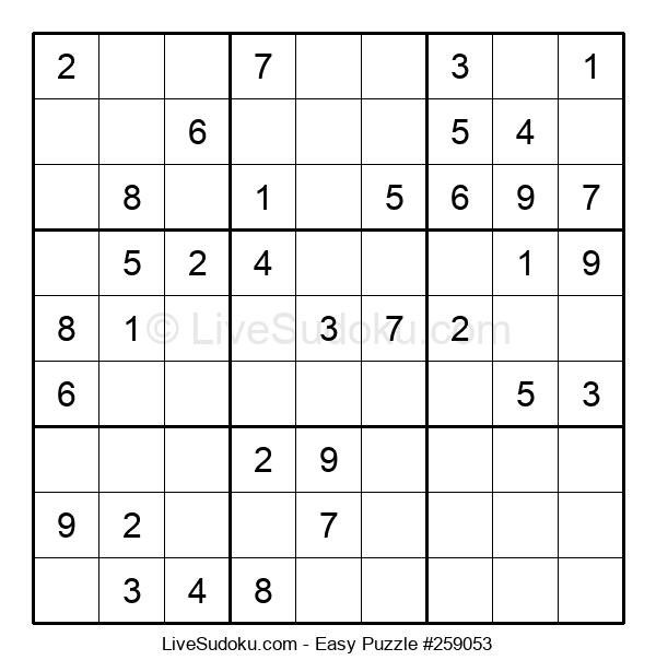 Beginners Puzzle #259053