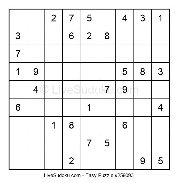 Beginners Puzzle #259093