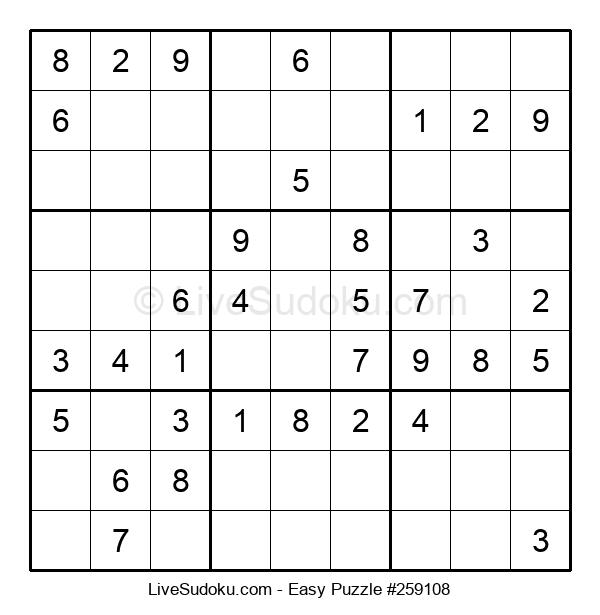 Beginners Puzzle #259108
