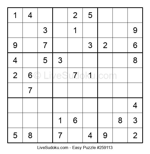 Beginners Puzzle #259113