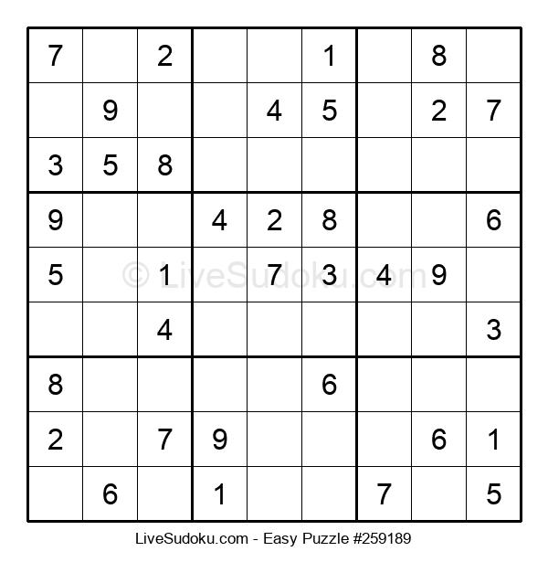 Beginners Puzzle #259189