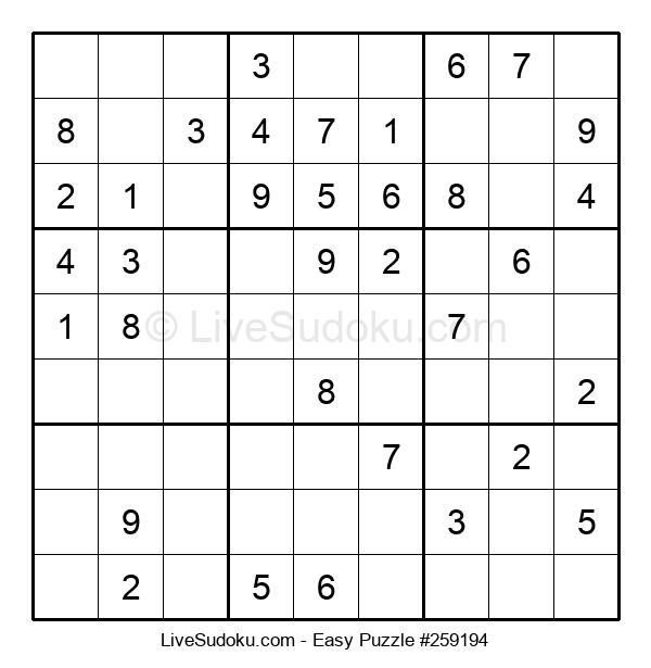 Beginners Puzzle #259194