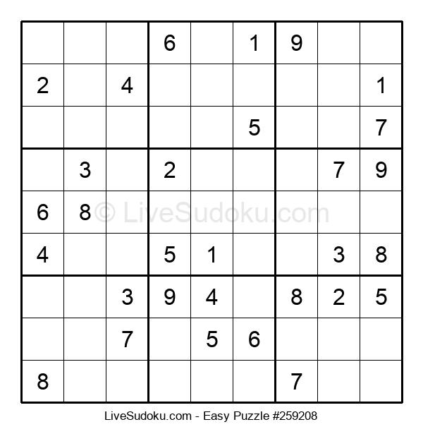 Beginners Puzzle #259208