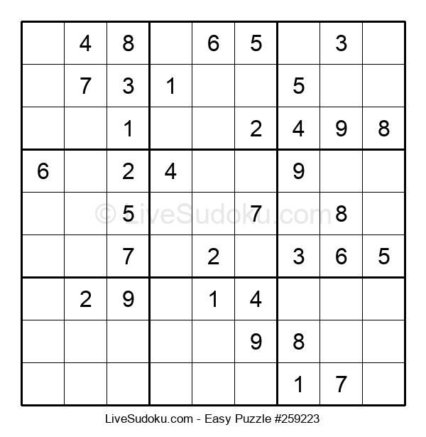 Beginners Puzzle #259223