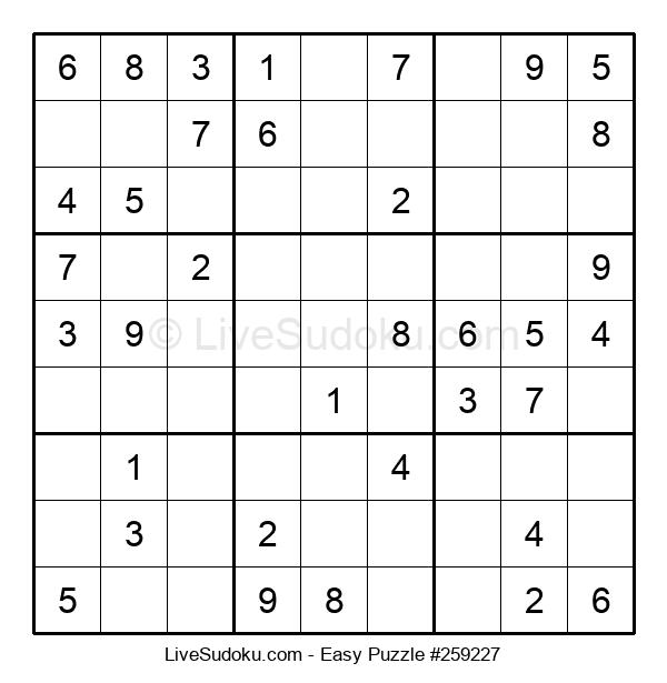 Beginners Puzzle #259227