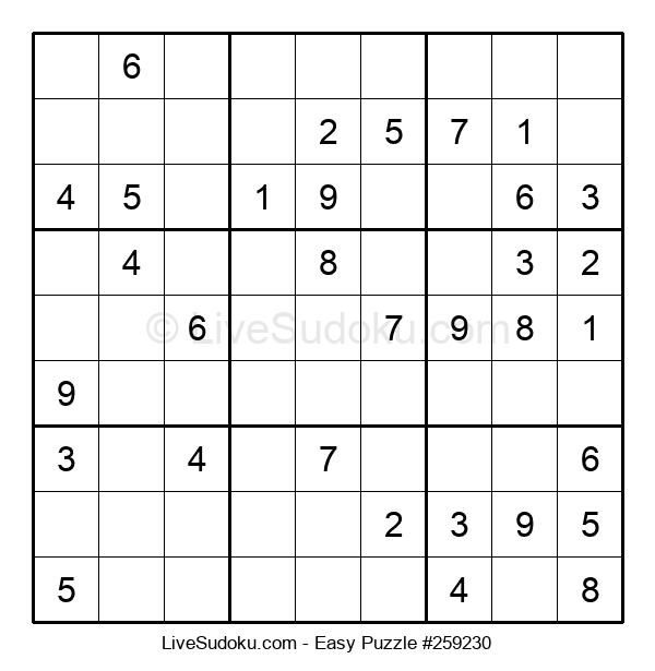 Beginners Puzzle #259230