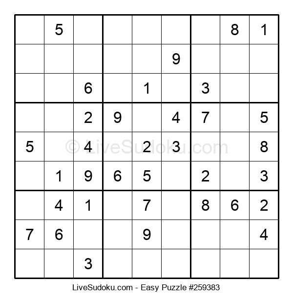 Beginners Puzzle #259383