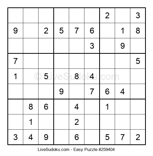Beginners Puzzle #259404