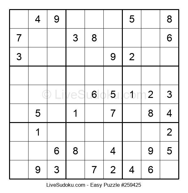 Beginners Puzzle #259425