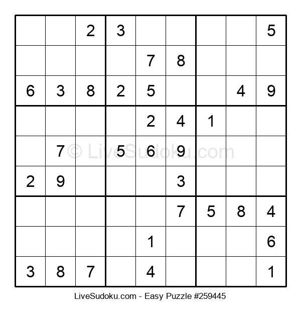 Beginners Puzzle #259445