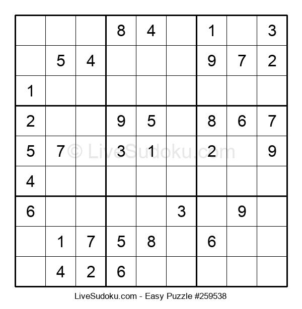 Beginners Puzzle #259538