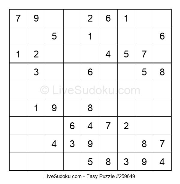 Beginners Puzzle #259649