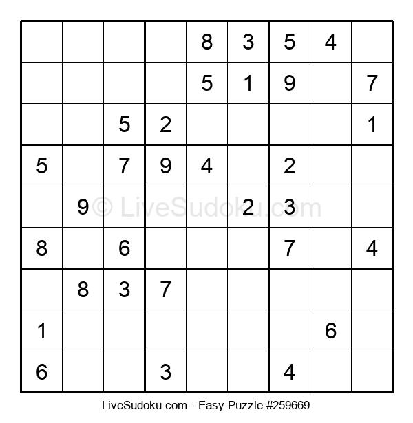 Beginners Puzzle #259669