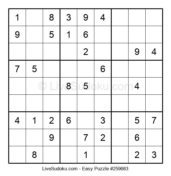 Beginners Puzzle #259683