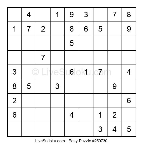 Beginners Puzzle #259730