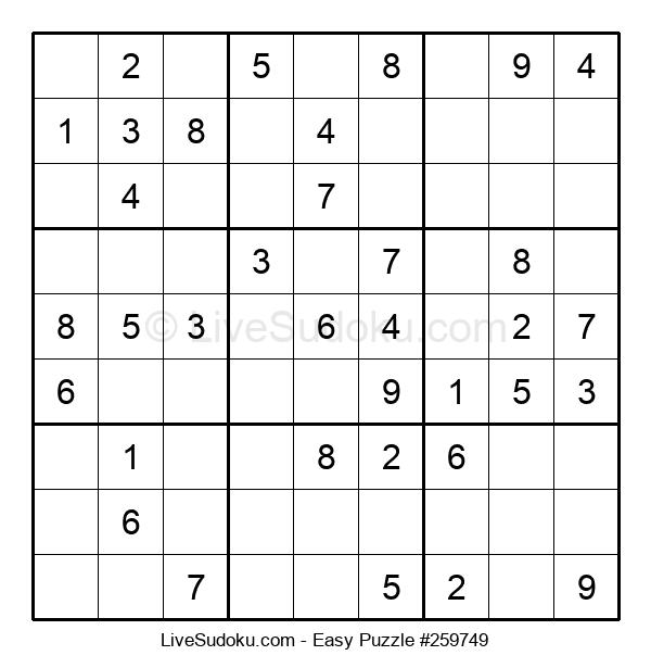 Beginners Puzzle #259749