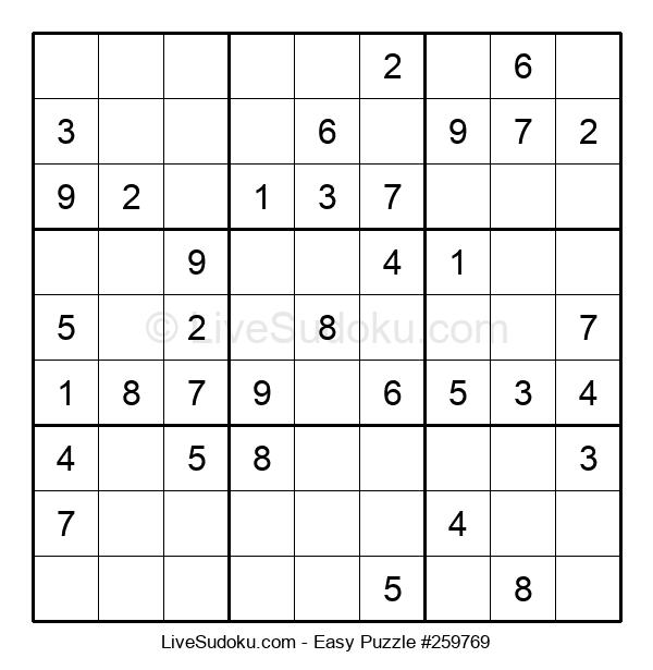 Beginners Puzzle #259769