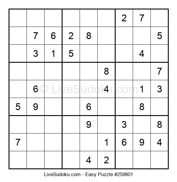 Beginners Puzzle #259801