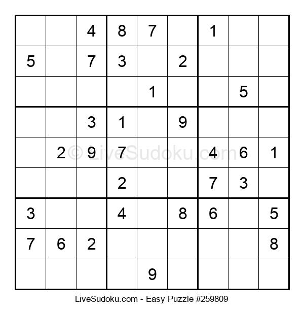 Beginners Puzzle #259809