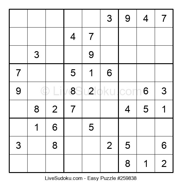 Beginners Puzzle #259838