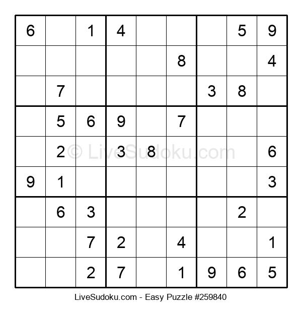 Beginners Puzzle #259840