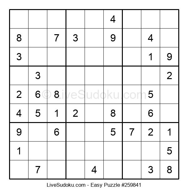 Beginners Puzzle #259841