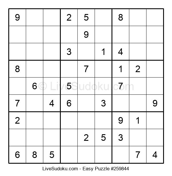 Beginners Puzzle #259844