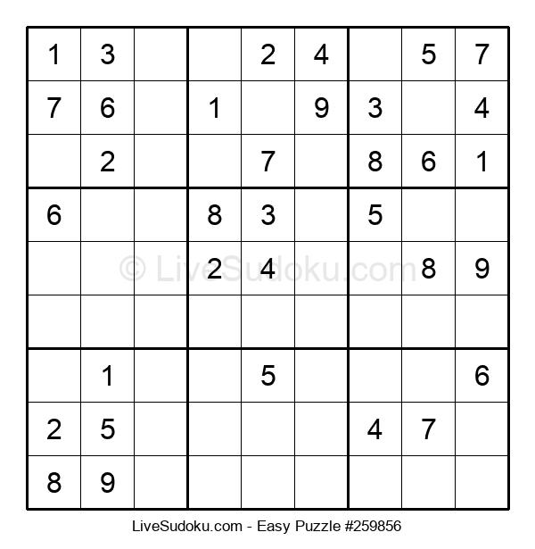 Beginners Puzzle #259856