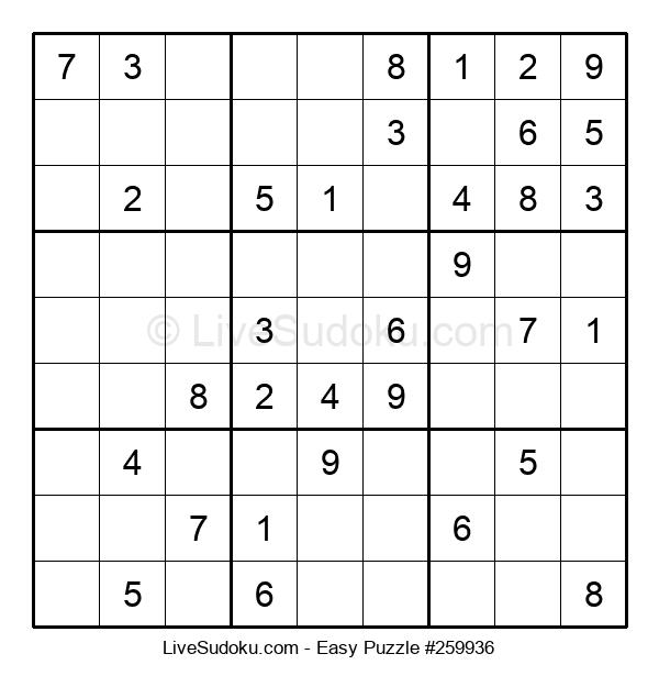 Beginners Puzzle #259936