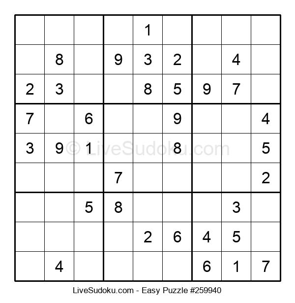 Beginners Puzzle #259940
