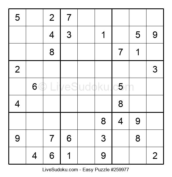 Beginners Puzzle #259977