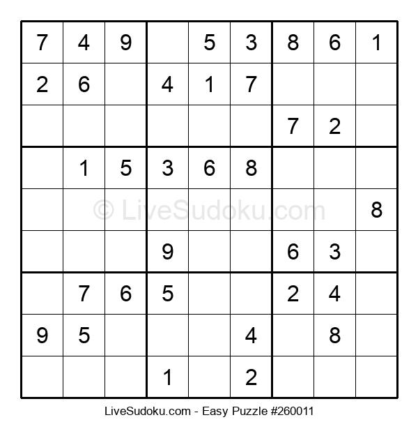 Beginners Puzzle #260011