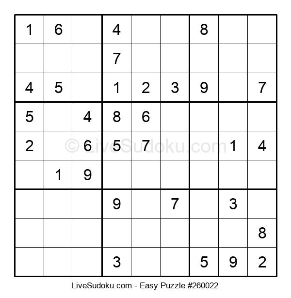 Beginners Puzzle #260022