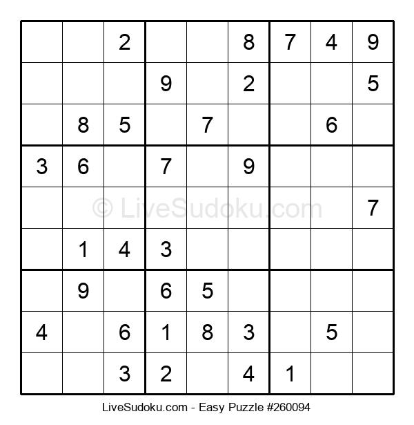 Beginners Puzzle #260094