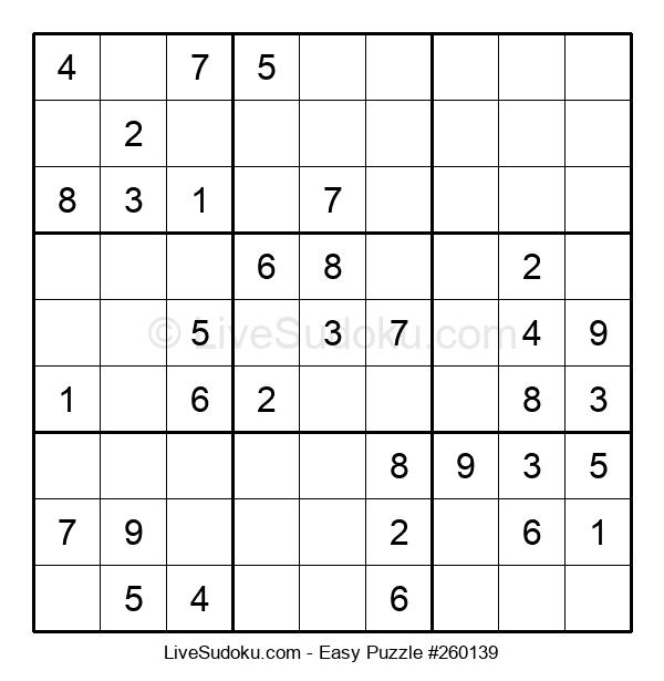 Beginners Puzzle #260139