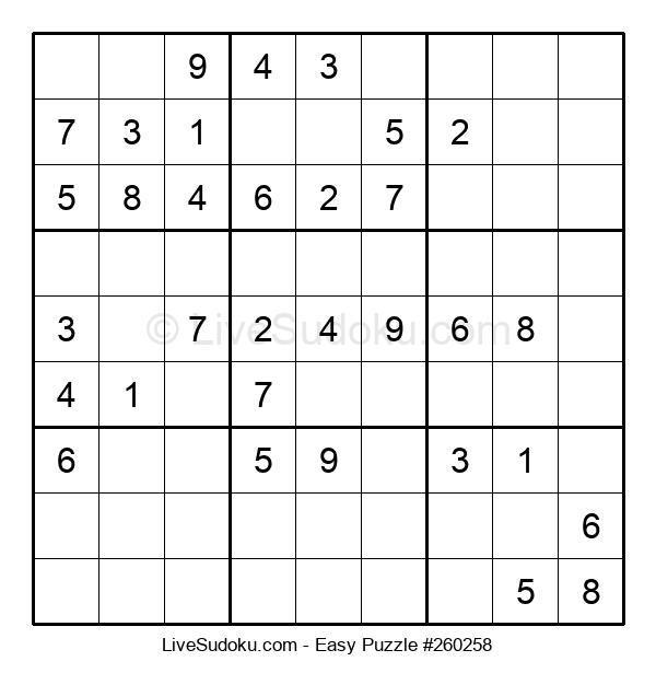 Beginners Puzzle #260258