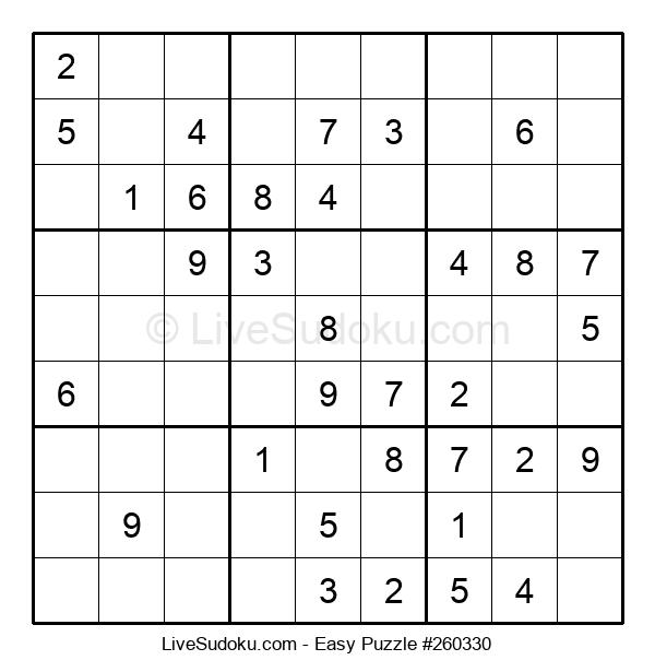 Beginners Puzzle #260330